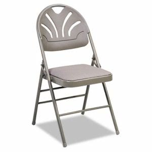 Bridgeport Folding Chair with Padded Seat, Taupe, 4 per Carton (CSC36875KNT4)