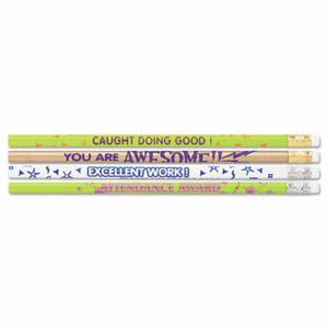Moon Award Woodcase Pencil, Motivational Assortment, HB #2, 144/Box (MPD8207)