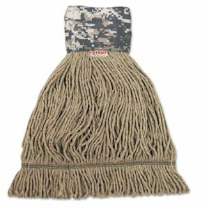 Unisan Patriot End Wide Band Mop Head, Large, Green/Brown, 12/Carton (UNS8200L)