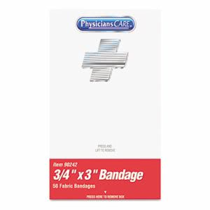 "Physicianscare First Aid Kit Refill, Bandages, 3/4"" X 3"", 50 Bandages (ACM90242)"