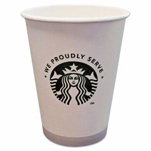 Starbucks Hot Cups, 12oz, White with Green Logo, 1000 Cups (SBK11098806)