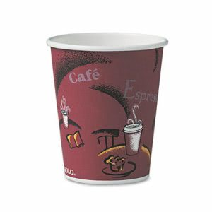 Solo Cup Bistro Hot Drink Cups, Paper, 10 oz., 50 Bistro Cups (SCC370SIPK)