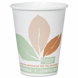 Solo Cup PLA Hot Cups w/Leaf Design, 8 oz., 500 per Carton (SCCOF8PLAJ7234)