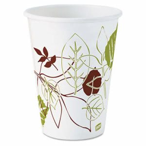 Dixie Pathways Paper Hot Cups, 12 oz, 1000/Carton (DXE2342PATH)