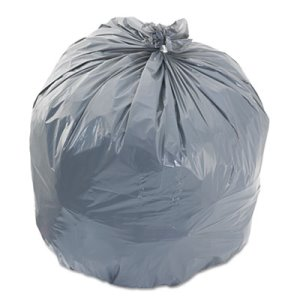 Boardwalk 56 Gallon Gray Garbage Bags, 43x47, 0.95mil, 100 Bags (BWK 4347SH)