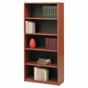Safco Series Bookcase, 5 Shelves, 31-3/4w x 13-1/2d x 67h, Cherry (SAF7173CY)