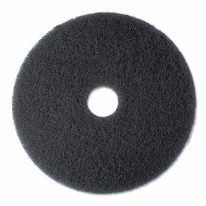 "3M Black 17"" High Productivity Floor Pad 7300, 5 Pads (MMM08275)"