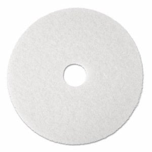 "17"" 3M White Super Polishing & Low Speed Floor Buffing Pads, 4100 (MCO 08481)"