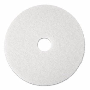 "3m Super Polish Floor Pad 4100, 13"", White, 5 Pads/Carton (MMM08477)"