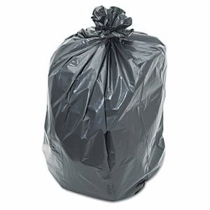 55 Gallon Black Garbage Bags, 38x58, 1.2mil, 100 Bags (PNL519)