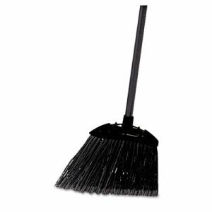 Rubbermaid 637400 Lobby Pro Dust Pan Broom, Black (RCP637400BLA)