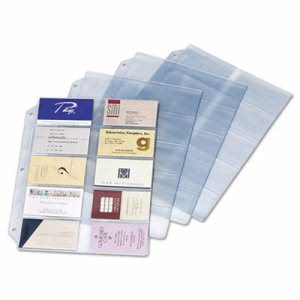 Business Card Refill Pages, Clear, 20 Cards/Sheet, 10 Sheets (CRD7856000)