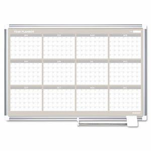 Mastervision 12 Month Planner, 48x36, Aluminum Frame (BVCGA05106830)