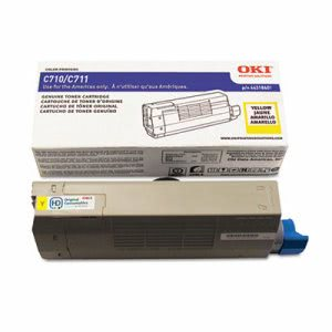 Oki 44318601 Toner Cartridge, 11,500 Page-Yield, Yellow (OKI44318601)