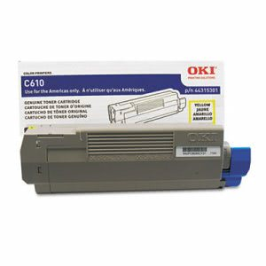 Oki 44315301 Toner Cartridge, 6,000 Page-Yield, Yellow (OKI44315301)