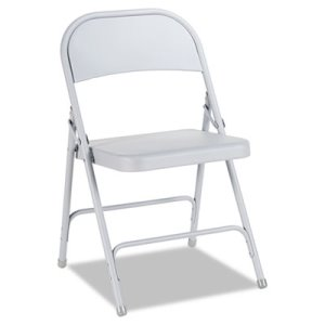 Alera Steel Folding Chair, Light Gray, 4/Carton (ALEFC94LG)