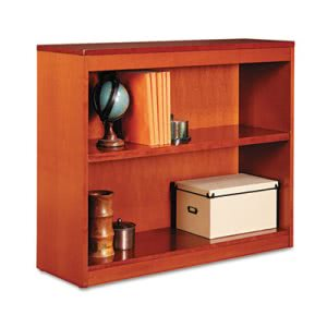 Alera Square Corner Wood Veneer Bookcase, 2-Shelf, Medium Cherry (ALEBCS23036MC)