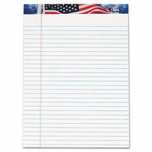 Tops Writing Pad, Jr. Legal Rule, 8-1/2 x 11-3/4, White,12 Pads (TOP75111)