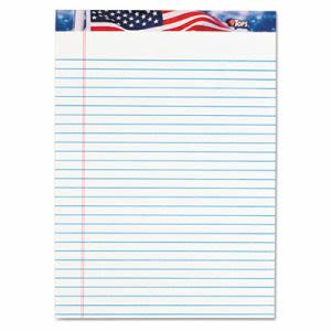 Tops American Pride Writing Pad, Legal, White, 50-Sheet 12/Pack (TOP75140)
