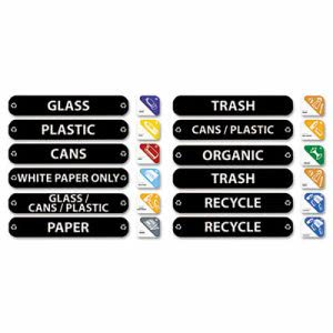 Rubbermaid 1792975 Multilingual Recycle Label Kit, 44 Labels (RCP1792975)