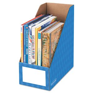 Bankers Box Cardboard Magazine File, Blue, 3 Files (FEL3380801)