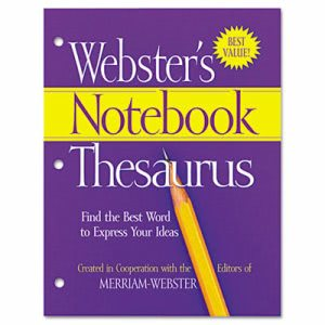 Merriam Webster Paperback Notebook Thesaurus, Three-Hole Punched (MERFSP0573)