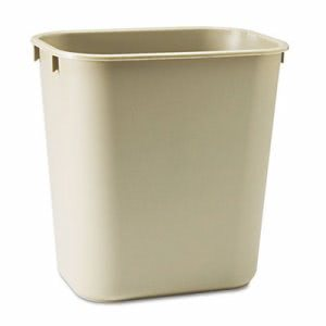 Rubbermaid 2955 Deskside 3-1/2 Gallon Wastebasket, Beige (RCP295500BG)