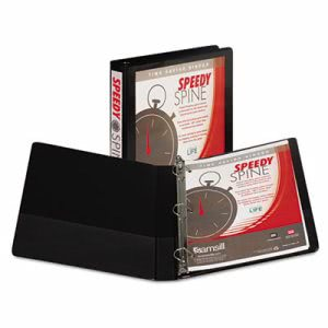 "Samsill Speedy Spine Angle-D Ring View 1"" Binder, 11 x 8-1/2, Black (SAM19130C)"