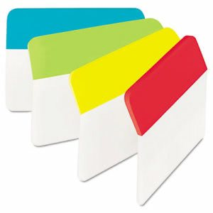 Post-it Hanging File Tabs, 2 x 1 1/2, Solid, Angled, 24 Tabs (MMM686AALYR)