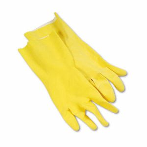 Boardwalk Large Yellow Flock-Lined Gloves, 12 Pairs (BWK 242L)