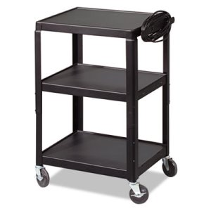 Balt Steel Utility Cart, 24w x 18d x 26 to 42h, Black (BLT85892)