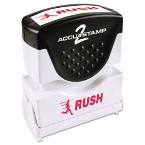 Accustamp2 Accustamp2 Shutter Stamp with Microban, Red, RUSH (COS035590)