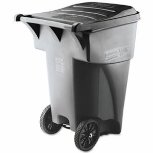 Rubbermaid 9W22 Brute 95 Gallon Rollout Waste Container, Gray (RCP 9W22 GRA)