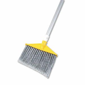 "Rubbermaid 6385 Angled Broom, 48-7/8"" Handle, Silver/Gray (RCP6385GRA)"