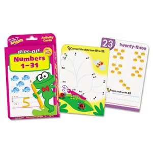 Trend Wipe-Off Activity Cards, Numbers 1-31, 32/Set (TEPT28102)