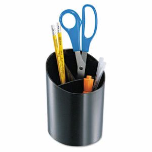 Officemate Recycled Big Pencil Cup, 4 1/4 x 4 1/2 x 5 3/4, Black (OIC26042)