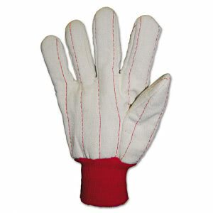 Anchor Brand Heavy Canvas Gloves, White/Red (ANR1050)