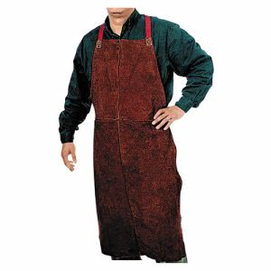 "Anchor Brand 500 Leather Bib Apron, 24in x 42"" (ANR500)"