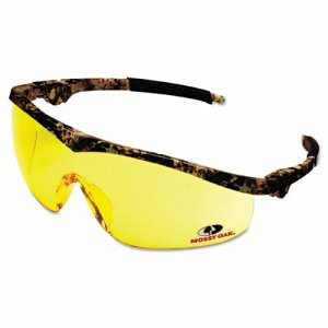 Crews Mossy Oak Safety Glasses, Forest-Floor-Camo Frame, Amber Lens (CRWMO114)