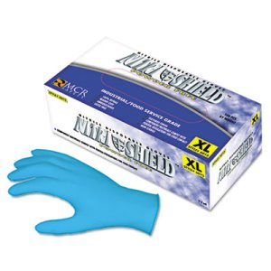 Mcr Safety Disposable Nitrile Gloves, Large, 4 mil, Powder-Free (MPG6015L)