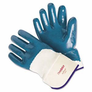 Memphis Predator Nitrile Gloves, Blue/White, Large, 12 Pairs (MPG 9760)