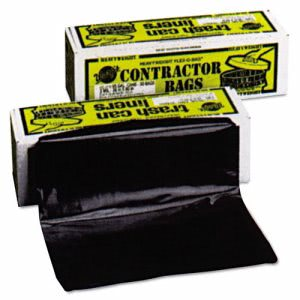 55 Gallon Black Contractor Garbage Bags, 35 x 56, 3mil, 30 Bags (WRPHB5530)