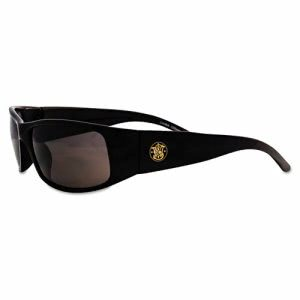 Smith & Wesson Elite Safety Sunglasses, Black, Anti-Fog Smoke Lens (SMW21303)