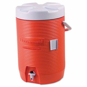Rubbermaid 16830111 Insulated 3 Gallon Beverage Container, Orange (RUB16830111)