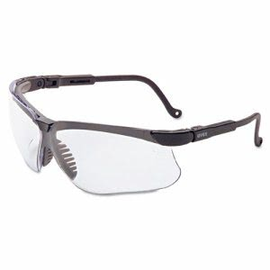 Uvex Genesis Safety Eyewear, Black Frame, Clear Lens (UVXS3200X)