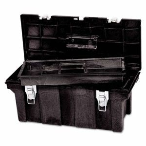 Rubbermaid 7802 Commercial Tool Box, Black (RCP780200BLA)