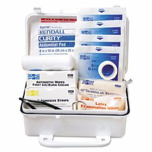 Pac-Kit ANSI Weatherproof Plastic First Aid Kit, 10 Person Kit (ACE 6060)