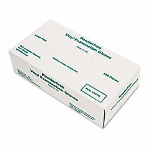 Memphis Disposable Medical Grade Vinyl Gloves, Large, 100 Gloves (MPG5010L)