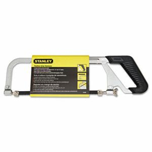 "Stanley Tools Adjustable-Frame Hacksaw, 10"" Blade, 3 7/8"" Throat (BOS15265)"