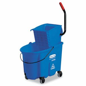Rubbermaid 7588-88 WaveBrake 35 qt. Side PressWringer/Bucket (RCP 7588-88 BLU)